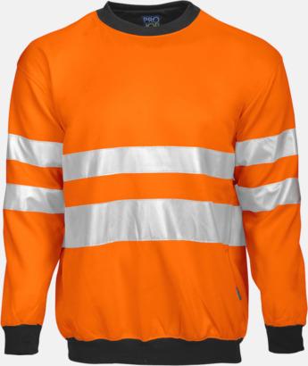 Orange/svart (fram) Arbetströja med bäst synlighet