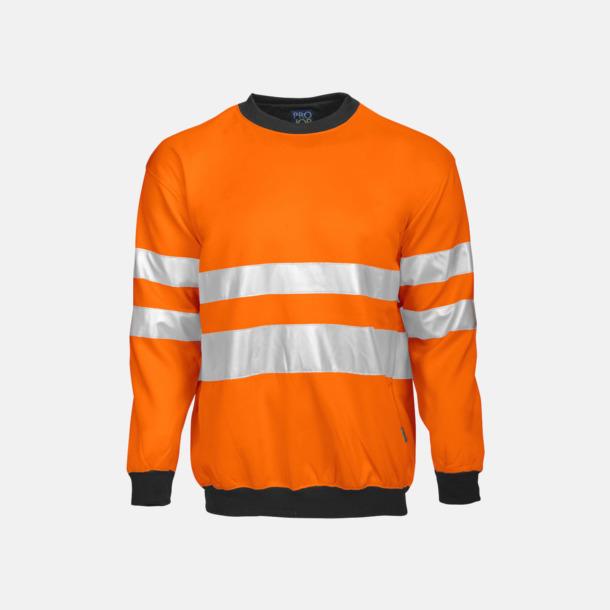 Orange/Svart Arbetströja med bäst synlighet
