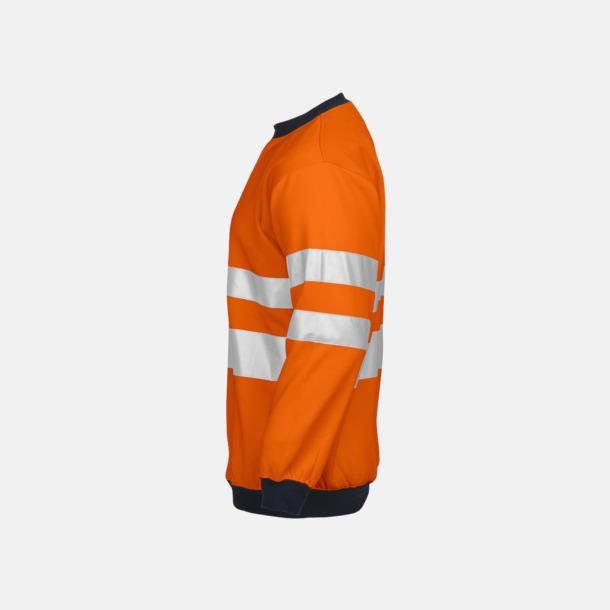 Orange/svart (sida) Arbetströja med bäst synlighet