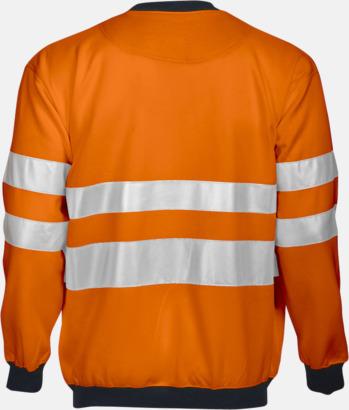 Orange/svart (bak) Arbetströja med bäst synlighet