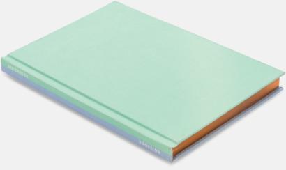 Lila/Mint Lyxig anteckningsbok med linjerade OCH blanka sidor - med reklamtryck