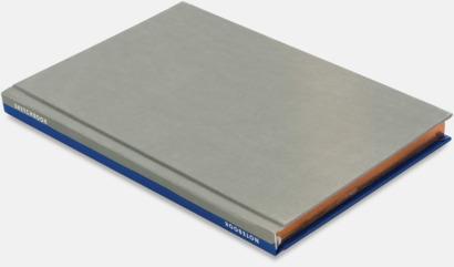 Royal/Grå Lyxig anteckningsbok med linjerade OCH blanka sidor - med reklamtryck