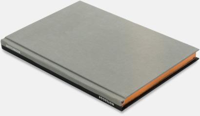 Svart/Grå Lyxig anteckningsbok med linjerade OCH blanka sidor - med reklamtryck