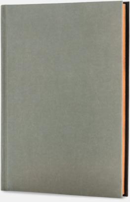 Svart/Grå (baksida) Lyxig anteckningsbok med linjerade OCH blanka sidor - med reklamtryck