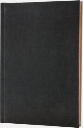 Svart/Grå (framsida) Lyxig anteckningsbok med linjerade OCH blanka sidor - med reklamtryck
