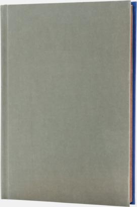 Royal/Grå (baksida) Lyxig anteckningsbok med linjerade OCH blanka sidor - med reklamtryck