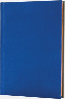 Royal/Grå (framsida) Lyxig anteckningsbok med linjerade OCH blanka sidor - med reklamtryck