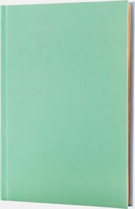 Lila/Mint (baksida) Lyxig anteckningsbok med linjerade OCH blanka sidor - med reklamtryck