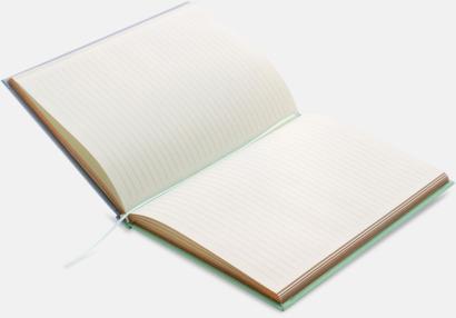 Lyxig anteckningsbok med linjerade OCH blanka sidor - med reklamtryck