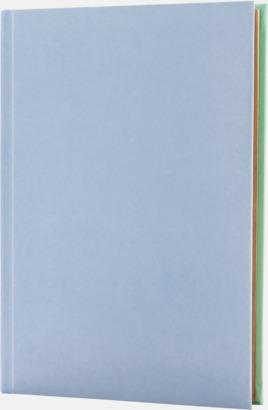 Lila/Mint (framsida) Lyxig anteckningsbok med linjerade OCH blanka sidor - med reklamtryck