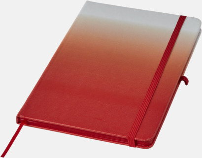 Röd A5 nyans anteckningsböcker med reklamtryck