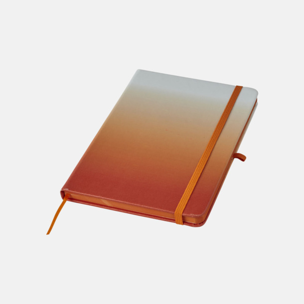 Orange A5 nyans anteckningsböcker med reklamtryck