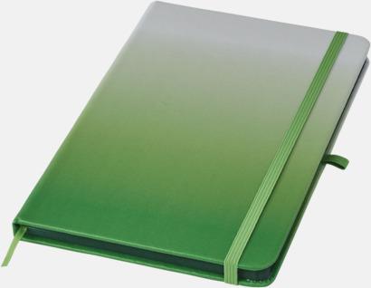 Grön A5 nyans anteckningsböcker med reklamtryck