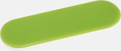 Limegrön Hållare och ställ för mobilen i plast - med reklamlogo
