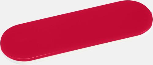 Röd Hållare och ställ för mobilen i plast - med reklamlogo