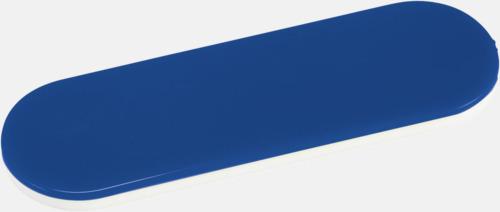 Blå Hållare och ställ för mobilen i plast - med reklamlogo
