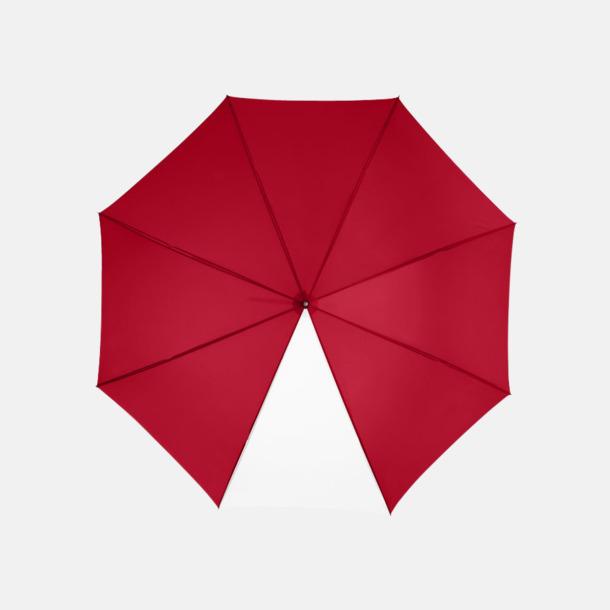 """Röd / Vit 23"""" kontrastparaplyer med reklamtryck"""