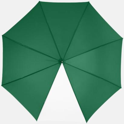 """Grön / Vit 23"""" kontrastparaplyer med reklamtryck"""
