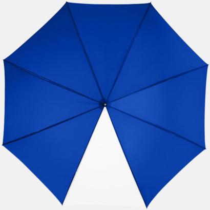 "Royal/Vit 23"" kontrastparaplyer med reklamtryck"
