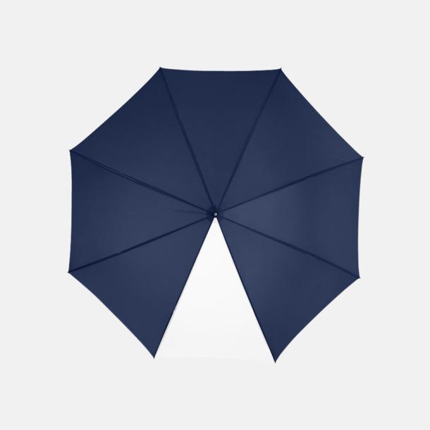 """Marinblå / Vit 23"""" kontrastparaplyer med reklamtryck"""