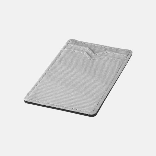 Silver RFID-säkra dubbelmobilfickor med reklamtryck