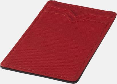 Röd RFID-säkra dubbelmobilfickor med reklamtryck