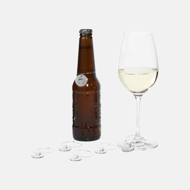 6 glasmarkörer med förvaring med reklamtryck