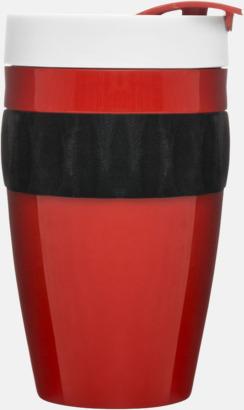 Röd/Svart/Vit Take away-muggar från Sagaform med reklamtryck