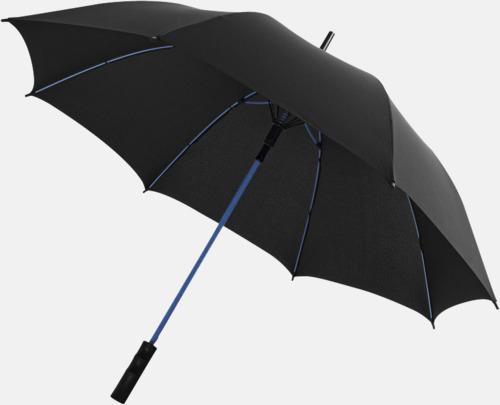 Svart / Blå Färgade stormparaplyer med reklamtryck