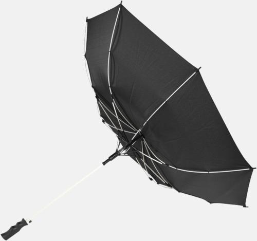 Stormsäkert Färgade stormparaplyer med reklamtryck