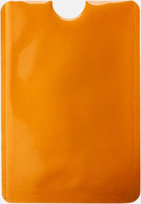 Orange RFID-säkra mobilfickor med reklamtryck
