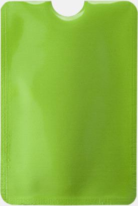 Limegrön RFID-säkra mobilfickor med reklamtryck