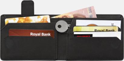 RFID-plånböcker i konstläder med reklamtryck