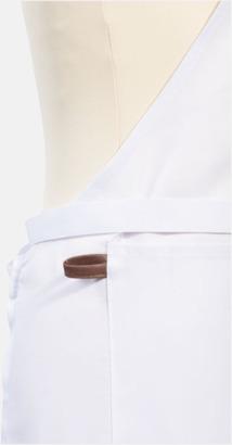 Förkläden med kostläderdetaljer med reklamtryck