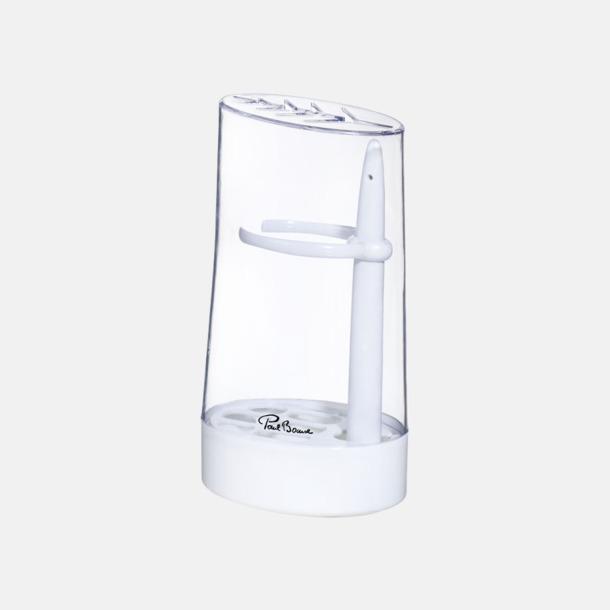 Vit / Transparent Örtbehållare med reklamtryck