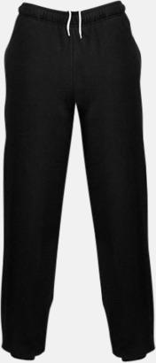 Jet Black Mjuka byxor i unisexmodell med reklamtryck