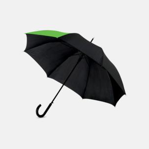 "23"" mörka kontrastparaplyer med reklamtryck"