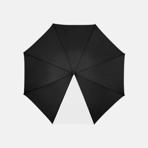 "Svart / Vit 23"" mörka kontrastparaplyer med reklamtryck"