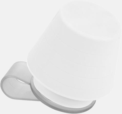Vit Liten lampa för mobiltelefonen & ställ - med reklamtryck