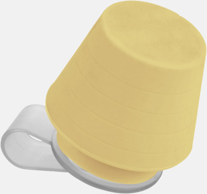Gul Liten lampa för mobiltelefonen & ställ - med reklamtryck