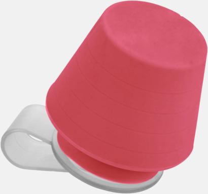 Röd Liten lampa för mobiltelefonen & ställ - med reklamtryck