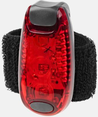 Röd Reflekterande lampor med reklamtryck