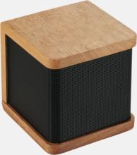 Bluetooth-högtalare i trä med reklamlogo