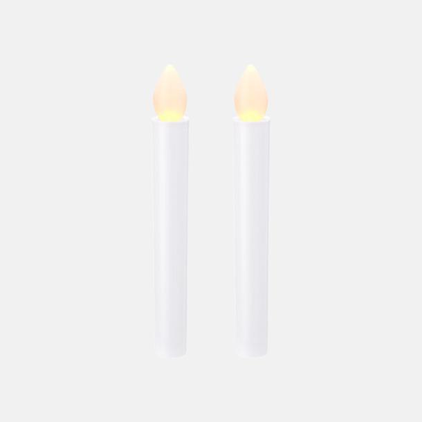 Vit 2-delars LED-ljusset med reklamtryck