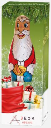 Chokladtomtar i förpackning med reklamtryck