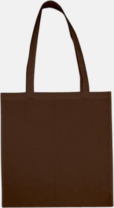 Brown (långa handtag) Tygpåsar med långa eller korta handtag i flera färger med eget reklamtryck