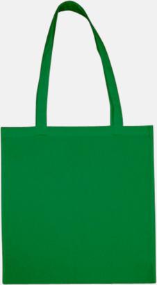 Dark Green (långa handtag) Tygpåsar med långa eller korta handtag i flera färger med eget reklamtryck