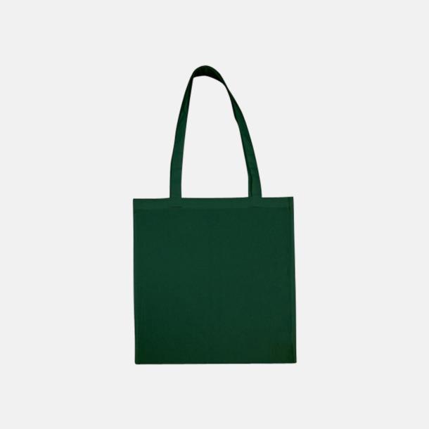 Bottle Green (långa handtag) Tygpåsar med långa eller korta handtag i flera färger med eget reklamtryck