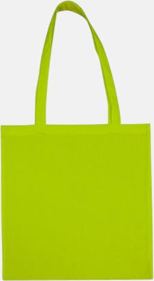 Lime (långa handtag) Tygpåsar med långa eller korta handtag i flera färger med eget reklamtryck