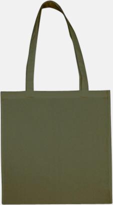 Military Green (långa handtag) Tygpåsar med långa eller korta handtag i flera färger med eget reklamtryck